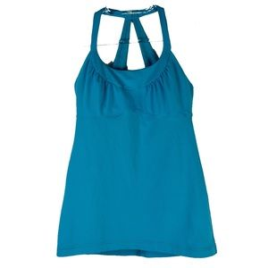 Lululemon Round Neck Tank Top in Aqua Blue